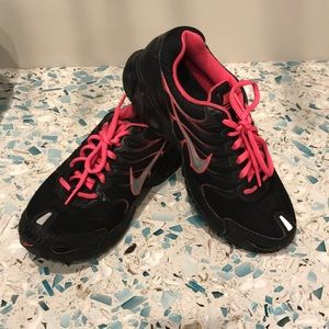 Sz 8 Nike Torch 4 women's sneakers EUC pink/black
